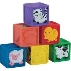 Small World Toys Crib Toys - Squeeze-a-Lot Block Set found on Bargain Bro from zulily.com for USD $12.91
