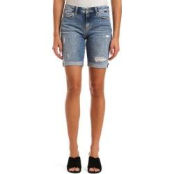 Alexis Raw Hem Denim Bermuda Shorts - Blue - Mavi Shorts found on MODAPINS from lyst.com for USD $78.00