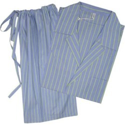 Brioni Mens Blue Green Striped Shorts Pajamas (S), Men's, Multicolor(Cotton) found on MODAPINS from Overstock for USD $249.00