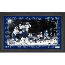 Tampa Bay Lightning Highland Mint 2020 Stanley Cup Champions 12'' x 20'' Framed Celebration Signature Rink Photo found on Bargain Bro from Fanatics for USD $45.59