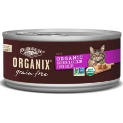 Castor & Pollux Organix Grain Free Organic Chicken & Chicken Liver Pate Wet Cat Food, 3 oz., Case of 24, 24 X 3 OZ found on Bargain Bro Philippines from petco.com for $36.48