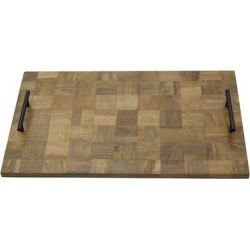 Gourmet Basics by Mikasa Avery Check Wood Serve Tray (Brown) found on Bargain Bro Philippines from Overstock for $44.99