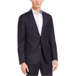 DKNY Mens Navy Single Breasted Wool Blend Jacket 44R (Navy - 44R), Men's, Blue found on Bargain Bro Philippines from Overstock for $50.38