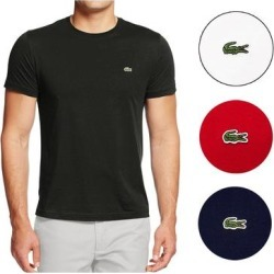 petite Lacoste Men's Pima Cotton Short Sleeve Crew Neck Athletic T-Shirt (Red - S) found on MODAPINS from Overstock for USD $40.85