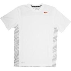 Nike Dri-FIT Men's Short Sleeve White Print/Orange Logo Training Shirt - Large found on MODAPINS from Overstock for USD $18.95