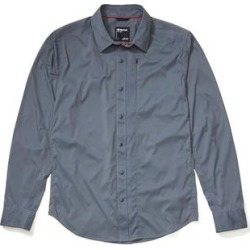Marmot Men's Apparel & Clothing Runyon Long Sleeve Shirt - Men's Steel Onyx Small found on MODAPINS from campsaver.com for USD $61.49
