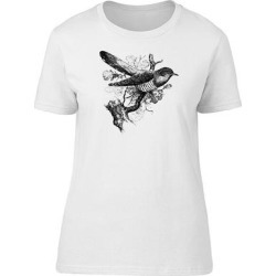 Vintage Floral Cuckoo Bird Tee Women's -Image by Shutterstock (S), White(cotton, Graphic) found on Bargain Bro Philippines from Overstock for $13.29