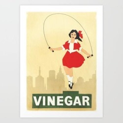 Art Print | Skipping Girl Vinegar by Melbournedesign - X-Small - Society6 found on Bargain Bro India from Society6 for $20.79
