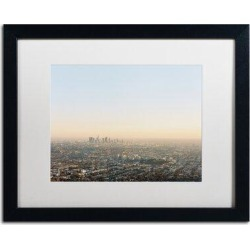 Trademark Fine Art 'Downtown Los Angeles' Framed Print on CanvasCanvas & Fabric in Brown, Size 11.0 H x 14.0 W x 0.5 D in   Wayfair AM0267-B1114MF found on Bargain Bro Philippines from Wayfair for $60.99