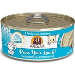 Weruva Classic Cat Press Your Lunch! Chicken Pate Canned Cat Food, 5.5-oz can, case of 8