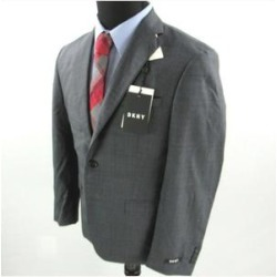 DKNY Mens Black Check Jacket 46R (Black - 46R), Men's(Wool) found on Bargain Bro Philippines from Overstock for $35.08