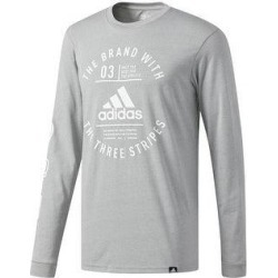 adidas Originals Mens T-Shirt Fitness Running - Medium Grey/White - XL (Medium Grey/White - XL), Men's, Medium Gray/White(cotton, graphic) found on Bargain Bro from Overstock for USD $21.74