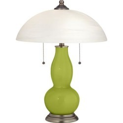 Parakeet Gourd-Shaped Table Lamp with Alabaster Shade found on Bargain Bro from LAMPS PLUS for USD $87.39