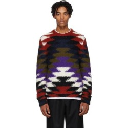 2 Moncler 1952 Multicolor Crewneck Sweater - Purple - Moncler Genius Knitwear found on Bargain Bro Philippines from lyst.com for $965.00