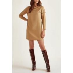 Annika Dress - Brown - Baldwin Denim Dresses found on MODAPINS from lyst.com for USD $55.00