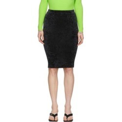 Black Crushed Velvet Cycling Skort - Black - Balenciaga Skirts found on Bargain Bro Philippines from lyst.com for $695.00
