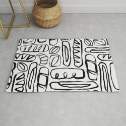 Modern Throw Rug | Carb Loading by Beshka Kueser - 2' x 3' - Society6 found on Bargain Bro Philippines from Society6 for $39.20