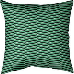 Porch & Den Blaze Fractured Stripes Throw Pillow found on Bargain Bro from Overstock for USD $47.49