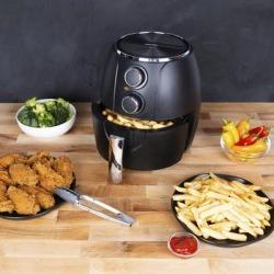 Kalorik 3 Quart Mechanical Air Fryer, Matte Black by Kalorik in Black found on Bargain Bro Philippines from Brylane Home for $79.99