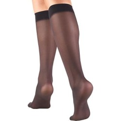 CS4U Women's Compression Socks Black - Black Sheer Knee-High 8-15 mmHg Light-Compression Socks - Women - Women found on Bargain Bro from zulily.com for USD $9.11