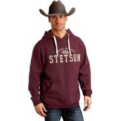 Stetson Western Sweatshirt Men Hoodie Logo Maroon (XL), Men's, Red(cotton) found on MODAPINS from Overstock for USD $84.94