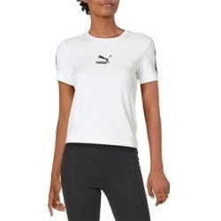 Puma Womens Shirts & Tops Fitness Workout - White (S), Women's(cotton) found on Bargain Bro India from Overstock for $14.09