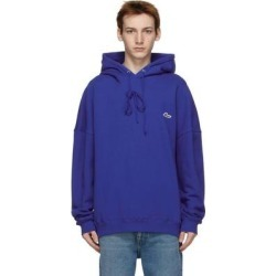 Blue Embroidered Logo Hoodie - Blue - we11done Sweats