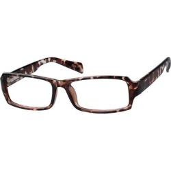 Zenni Men's Rectangle Prescription Glasses Tortoiseshell Plastic Frame found on Bargain Bro India from Zenni Optical for $9.95