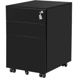 Inbox Zero Three Drawer File Cabinet() Metal/Steel in Black, Size 24.5 H x 15.5 W x 20.5 D in | Wayfair A25B58B941C84D5EB337BC1EA8B00358 found on Bargain Bro Philippines from Wayfair for $249.99