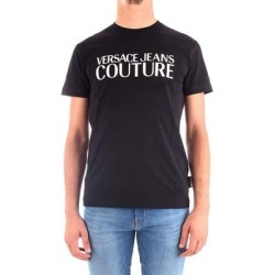 petite Versace Jeans Couture Mens Black White Logo Short Sleeve TShirt (XL), Men's found on Bargain Bro Philippines from Overstock for $107.10