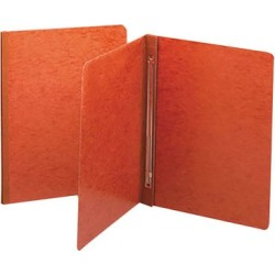 """Smead 81752 8 1/2"""" x 11"""" Red PressGuard Side Opening Report Cover with Prong Fasteners - 3"""" Capacity, Letter"""