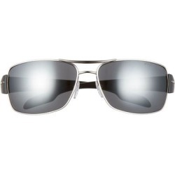 65mm Rectangle Sunglasses - Metallic - Prada Sport Sunglasses found on Bargain Bro India from lyst.com for $357.00