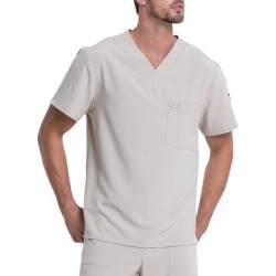 Dickies Men's Eds Essentials V-Neck Scrub Top - Military Khaki Size M (DK635) found on Bargain Bro India from Dickies.com for $21.99