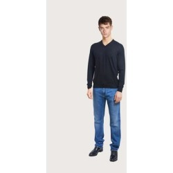 V Neck Sweater - Black - Ferragamo Knitwear found on Bargain Bro India from lyst.com for $630.00