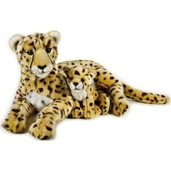 National Geographic Cheetah with Baby Plush by Lelly, Multicolor found on Bargain Bro from Kohl's for USD $61.55