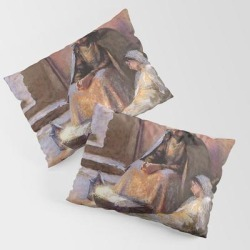 Pillow Sham | The Nativity By Gari Melchers by Famous Restored Art - STANDARD SET OF 2 - Cotton - Society6 found on Bargain Bro from Society6 for USD $30.39