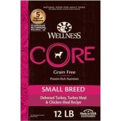 Wellness CORE Grain Free Small Breed Turkey & Chicken Recipe Dry Dog Food, 12-lb bag