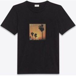 T-shirt Sunset Vhs - Black - Saint Laurent T-Shirts found on Bargain Bro from lyst.com for USD $319.20