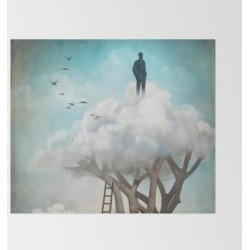 The Great Escape Bed Throw Blanket by Christian Schloe - 51