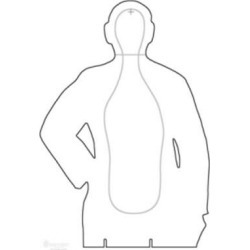 25 Pcs of B-21E Cardboard Target Silhouette, Features Shaded Standard B-21E Scoring LinesGray On White 22