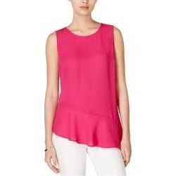 Maison Jules Womens Asymmetrical Knit Blouse (M), Women's, Purple found on Bargain Bro from Overstock for USD $13.22