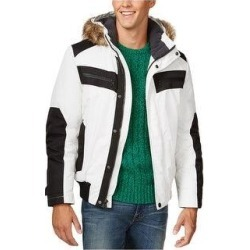 I-N-C Mens Iridescent Cire Parka Coat (White - XX-Large), Men's(fur, solid) found on MODAPINS from Overstock for USD $149.59