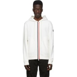 White Knit Stripe Hoodie - White - Moncler Sweats found on Bargain Bro Philippines from lyst.com for $680.00