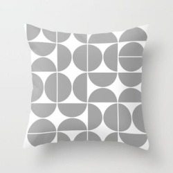 Couch Throw Pillow | Mid Century Modern Geometric 04 Grey by The Old Art Studio - Cover (16