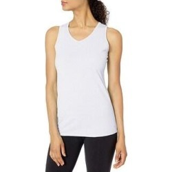 Champion Women's Double Dry Cotton Side Logo Tank Top Tee (White - S) found on Bargain Bro Philippines from Overstock for $19.49