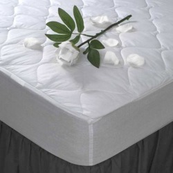 Maison Condelle- T180 Percale Mattress Pad - White (King) found on Bargain Bro from Overstock for USD $28.87