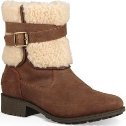 UGG Blayre Iii Wool Cuff Bootie - Brown - Ugg Boots found on Bargain Bro from lyst.com for USD $60.80