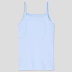 UNIQLO Girl's Airism Cotton Blend Camisole, Blue, 9-10Y found on Bargain Bro India from Uniqlo for $9.90