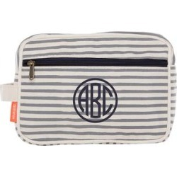 CB Station Luggage Gray - Gray Stripe Monogram Travel Kit found on Bargain Bro India from zulily.com for $19.99