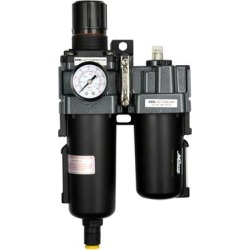 EXELAIR by Milton Filter-Regulator + Lubricator, Metal Bowl, Max. PSI 145 PSI, CFM 106 cfm, MInch Temperature 25 °F, Model EX45PBL40A-04M found on Bargain Bro from northerntool.com for USD $173.73